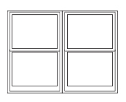 window combination 2 wide double-hung